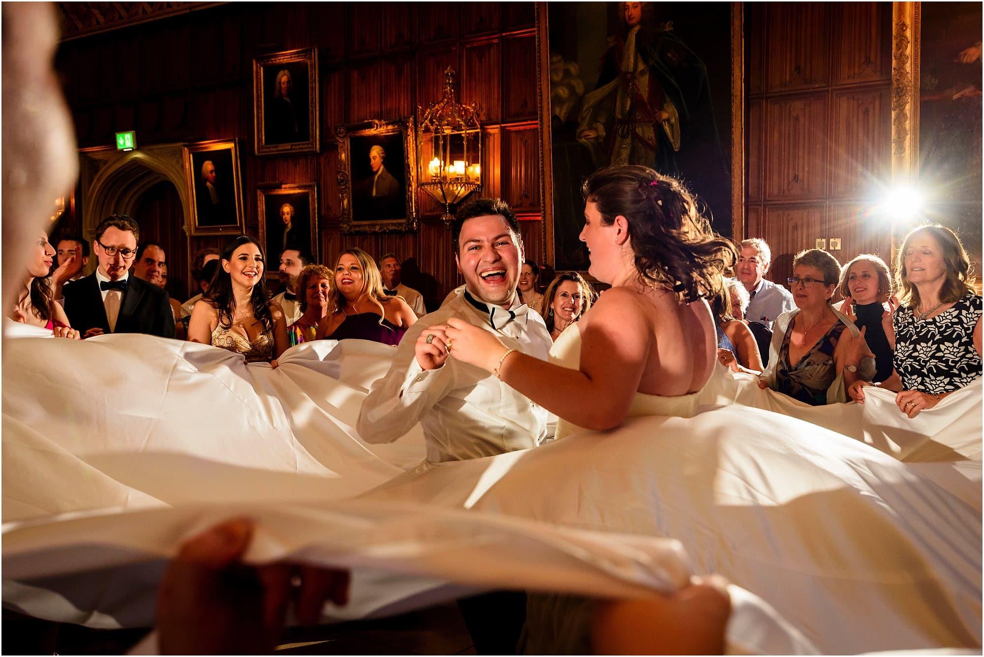 Cambridge University Wedding Photography Jewish Israeli dancing