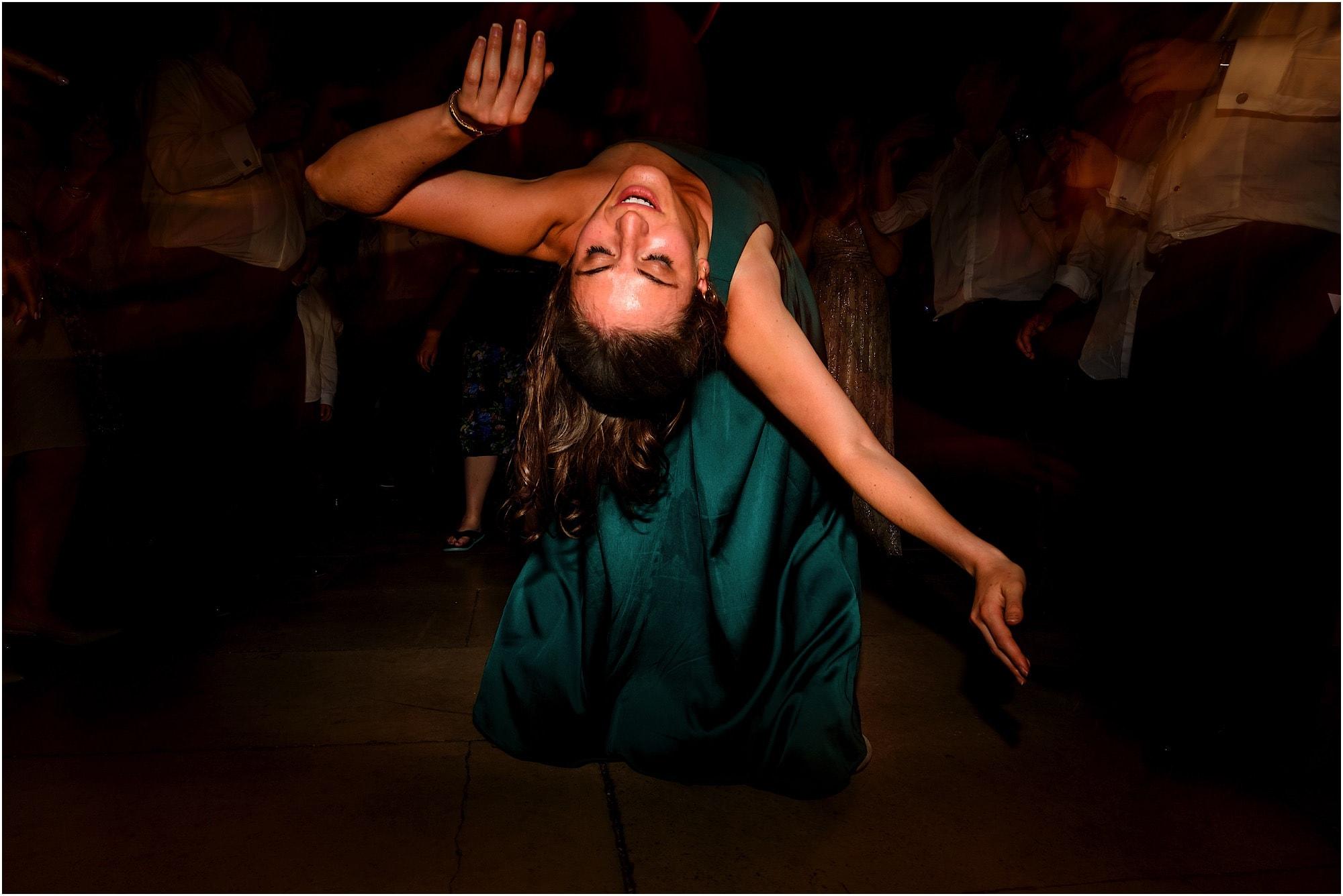bending over backwards bridesmaid