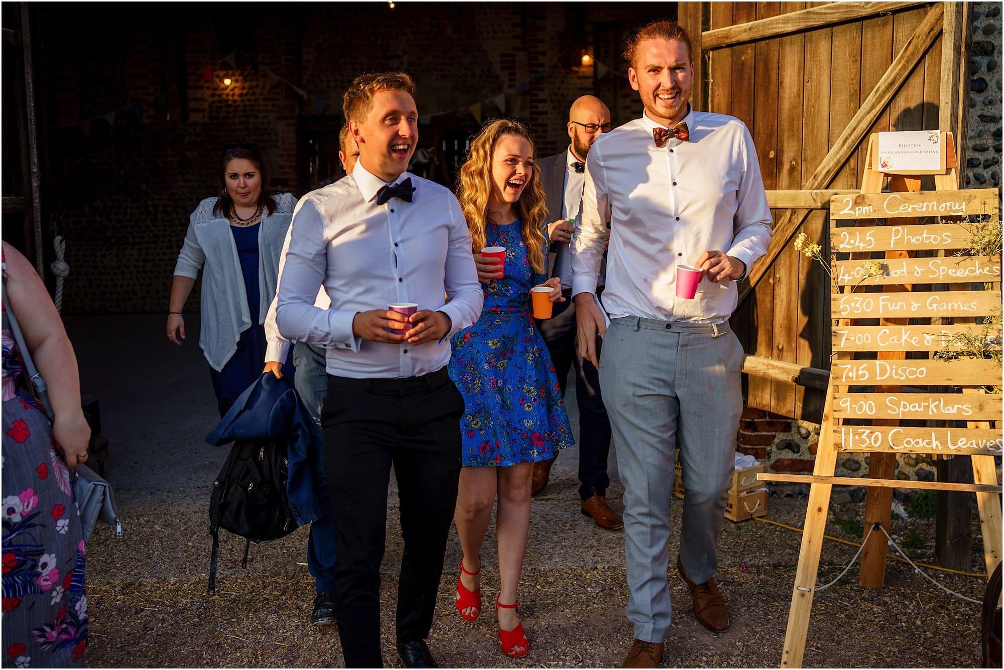 surprised wedding guests