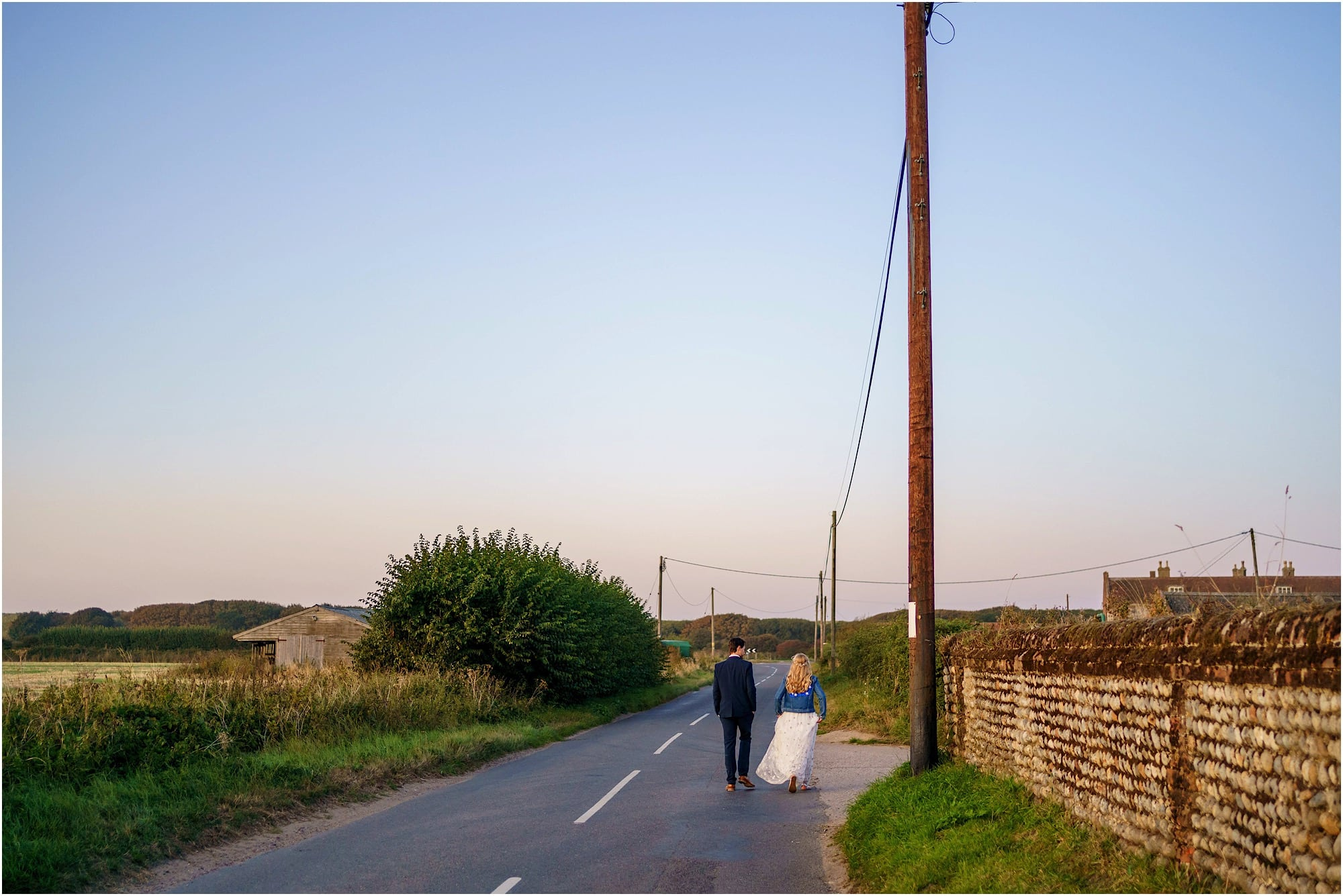 walking down the road to the beech