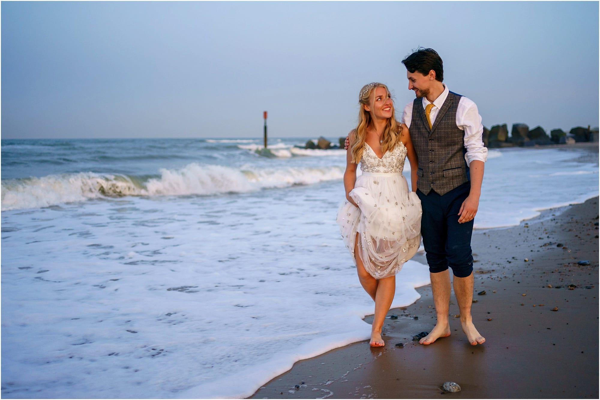 Waxham wedding beach photographer