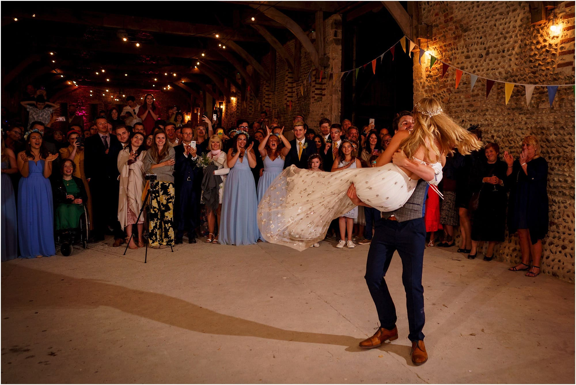 lifting up the bride during the first dance