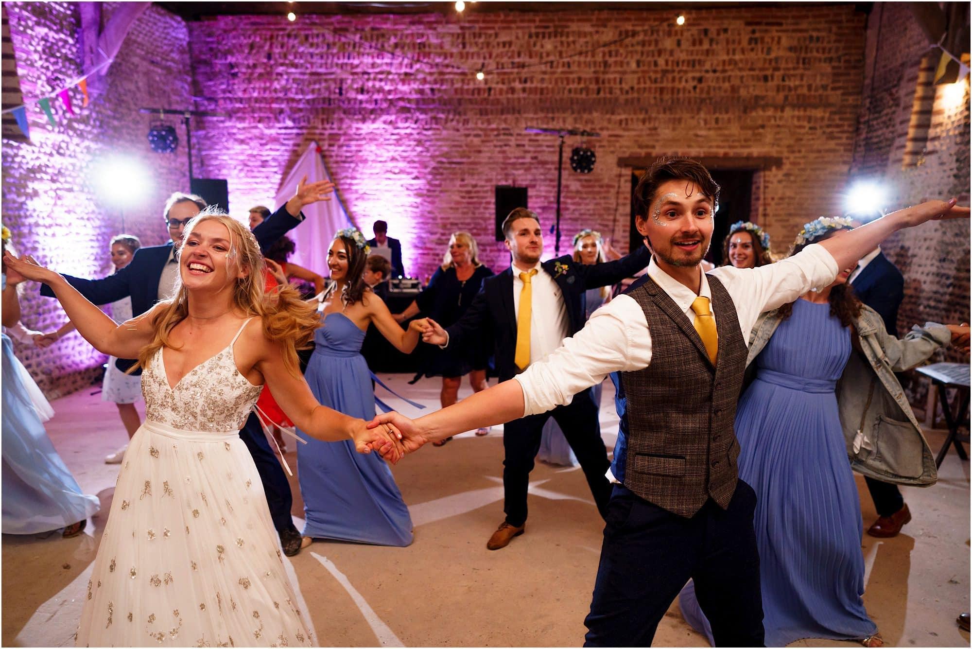 flash mob at Norfolk wedding