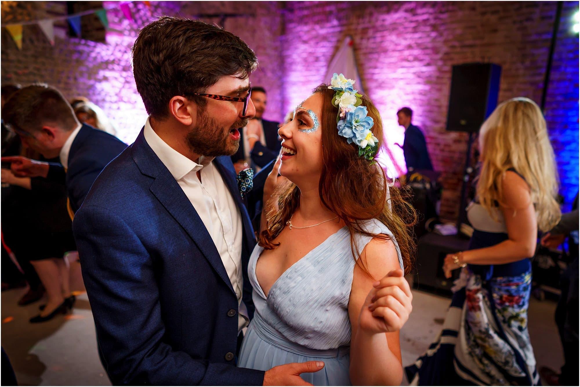 bridesmaid and her boyfriend