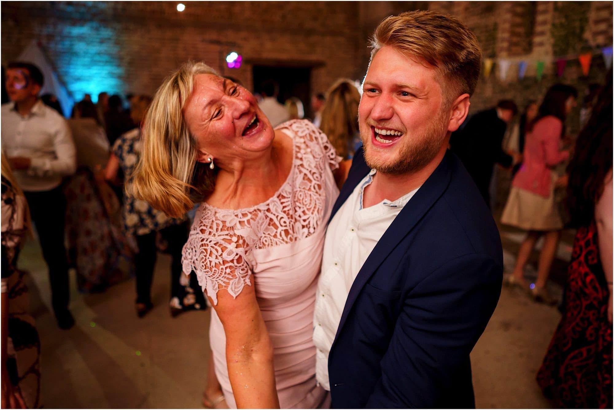 groom's mum having fun