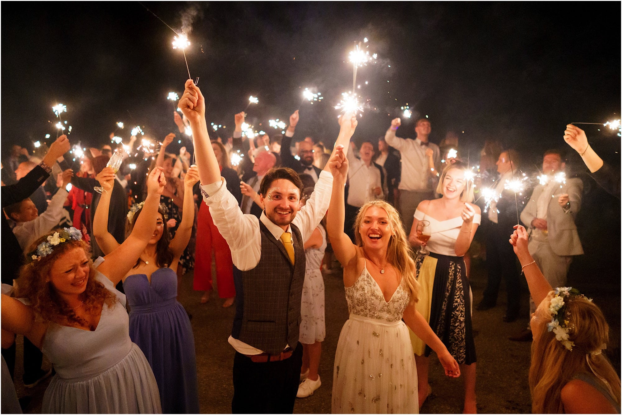 Are sparklers allowed at Waxham Barn?