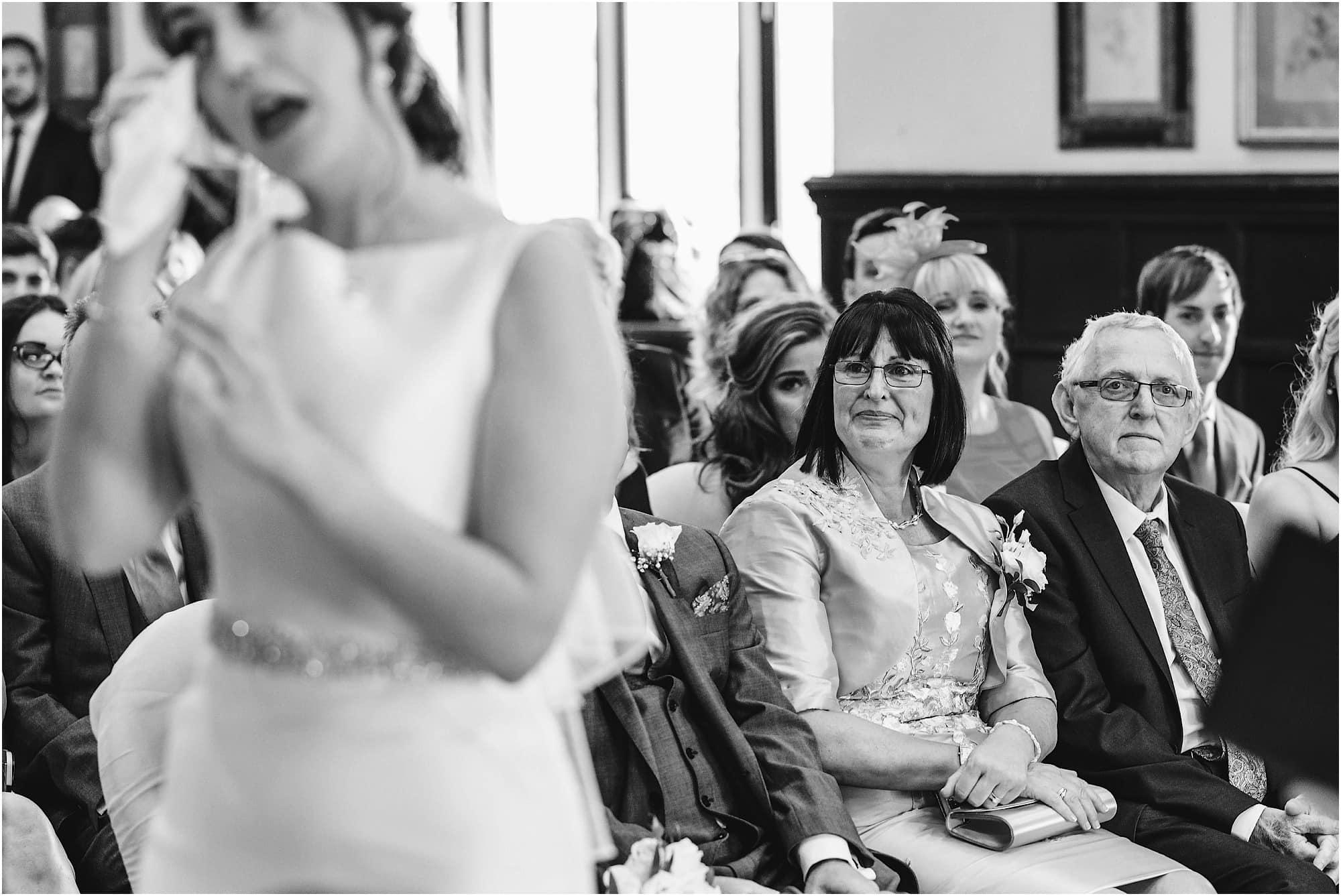 Bride's parent's