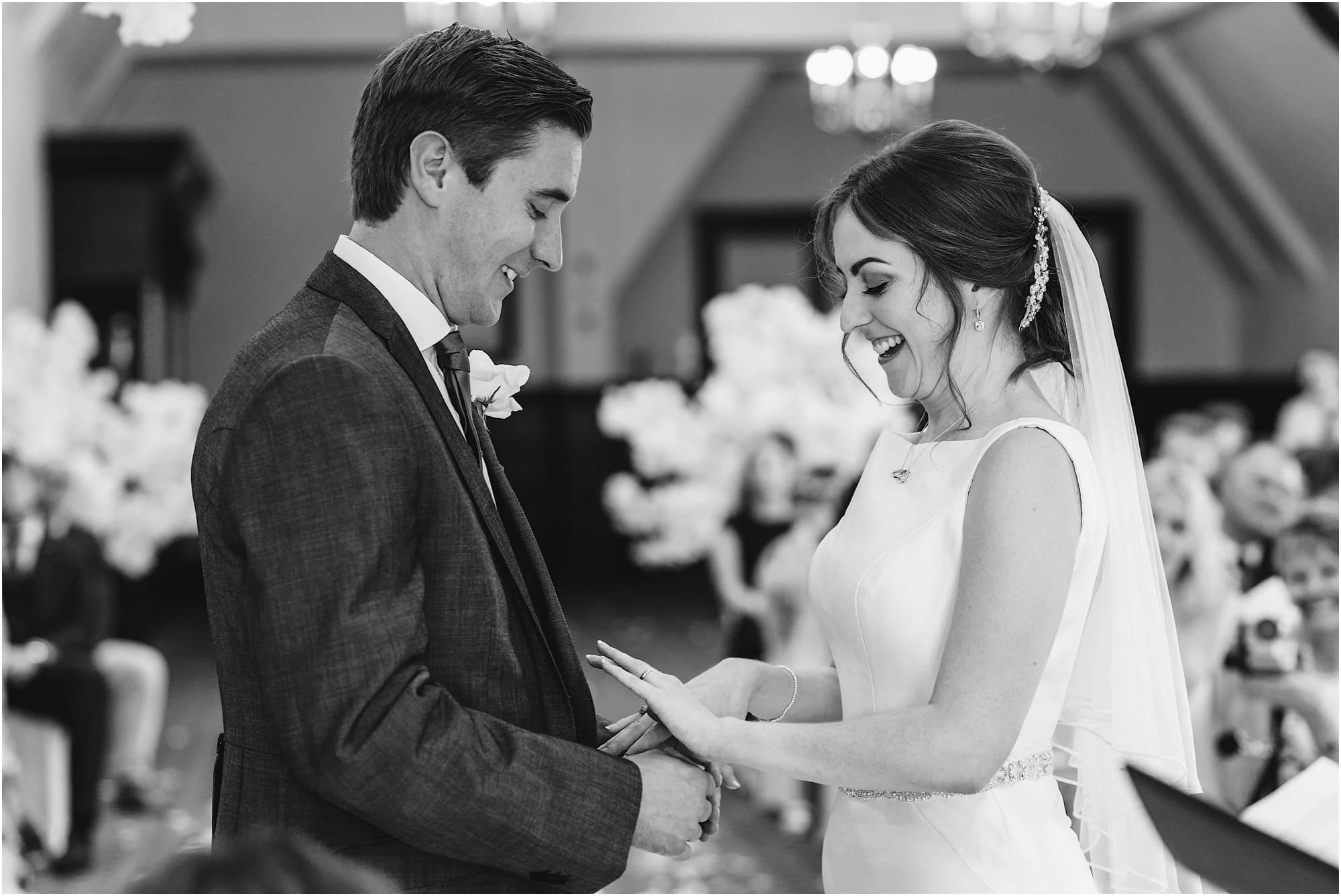bride admiring her ring
