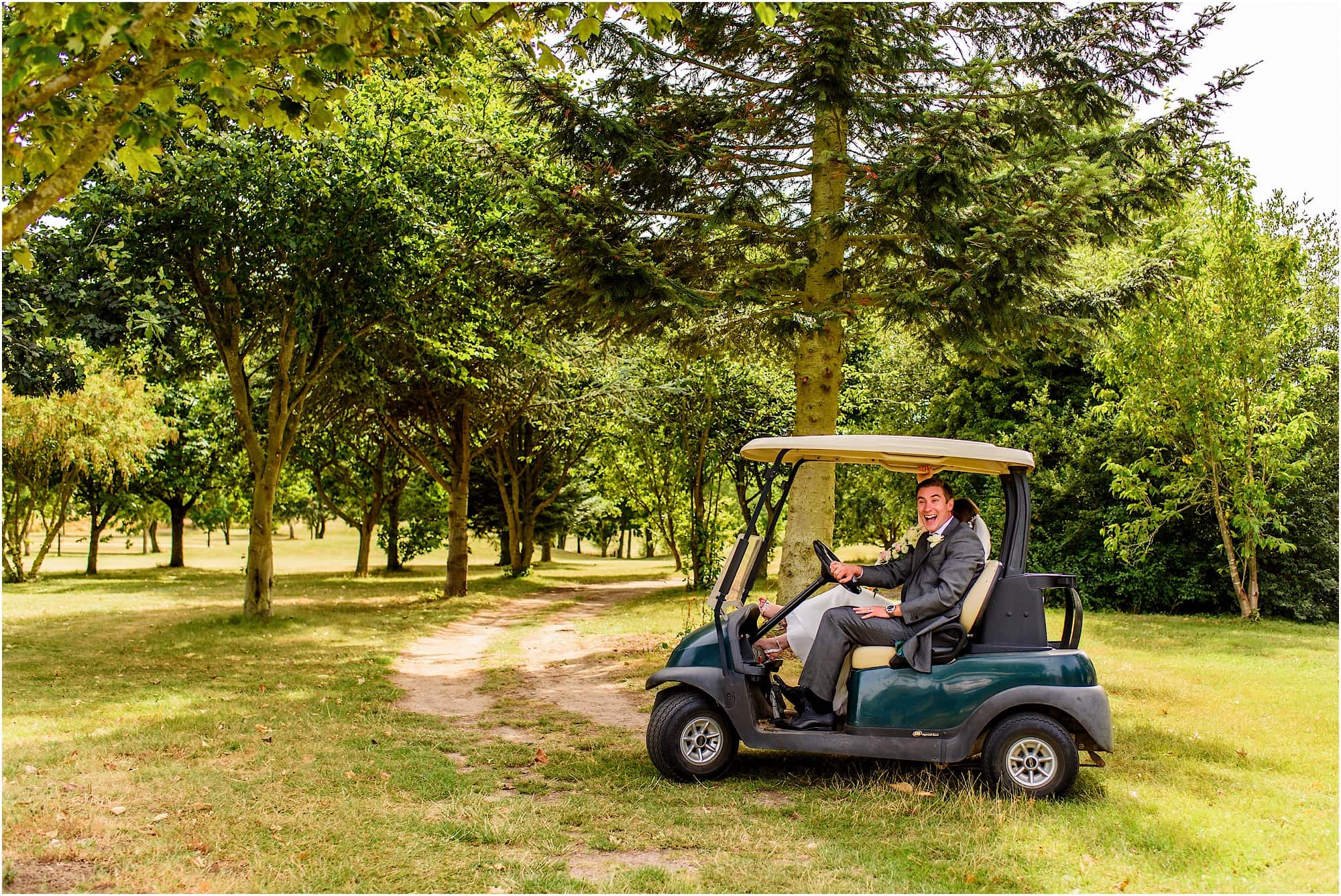 Dunston Hall Norfolk golf buggy