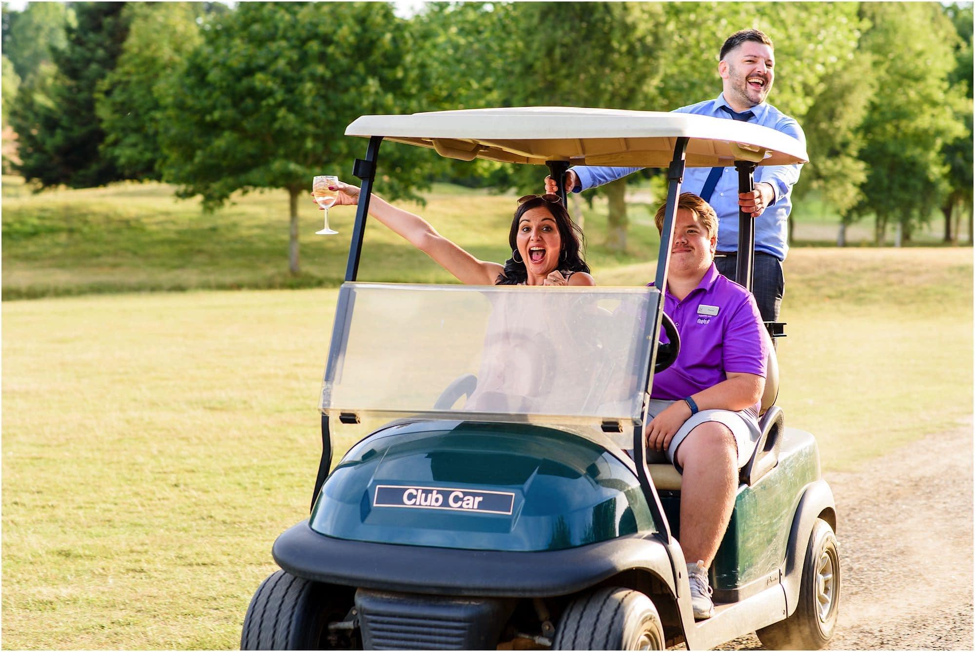 Dunston Hall golf buggy