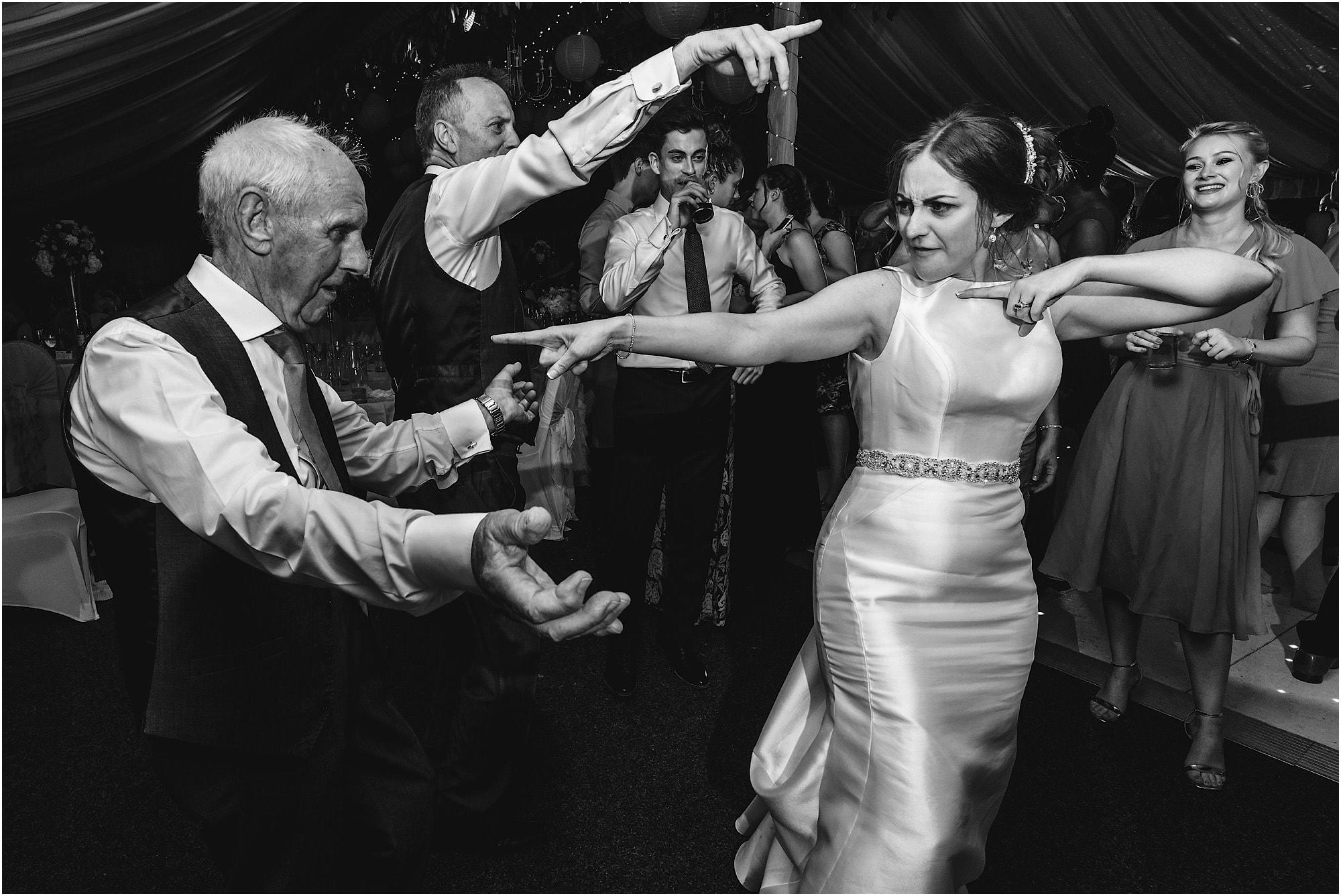 bride dancing with grandad
