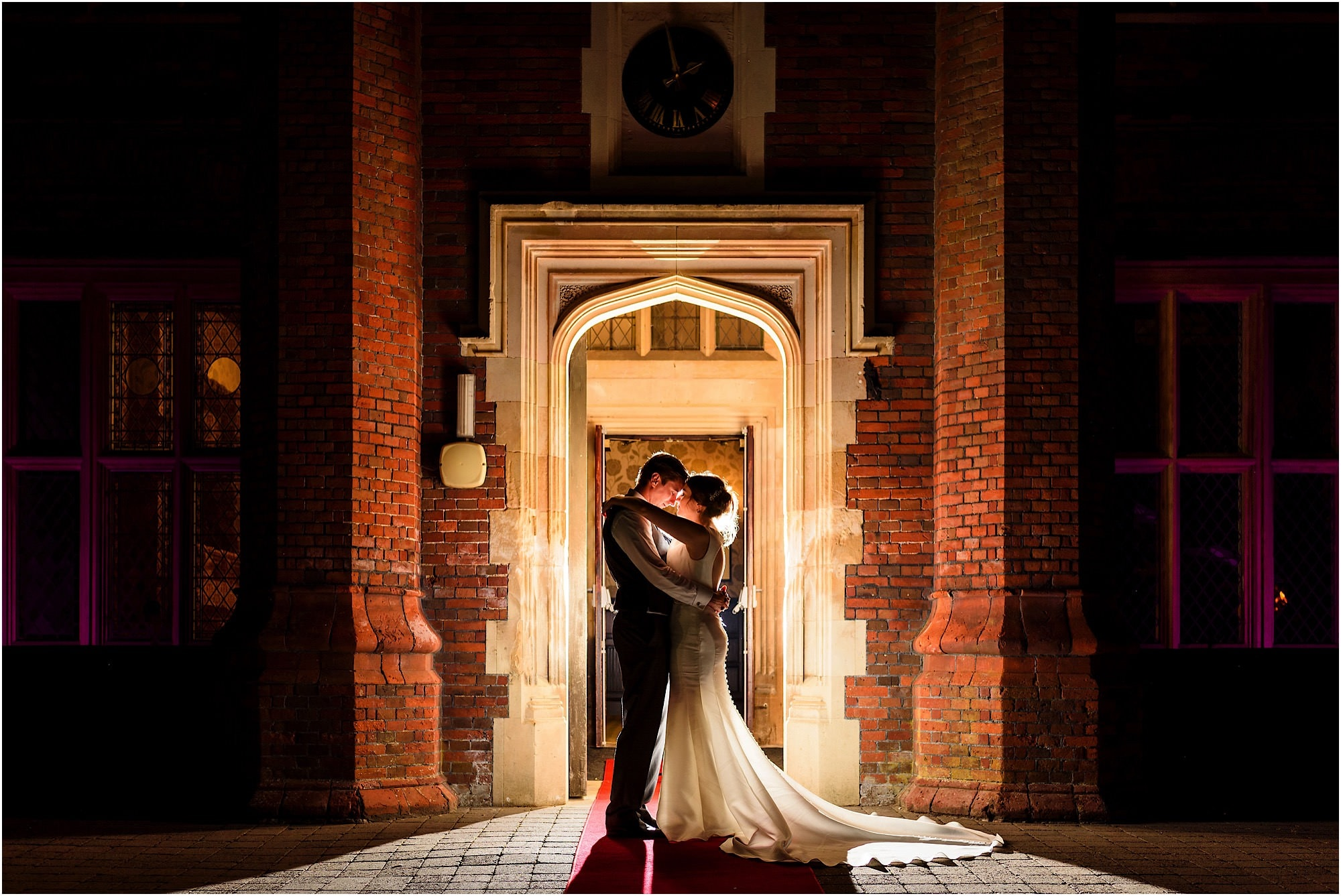 beautiful wedding photo at Dunston Hall