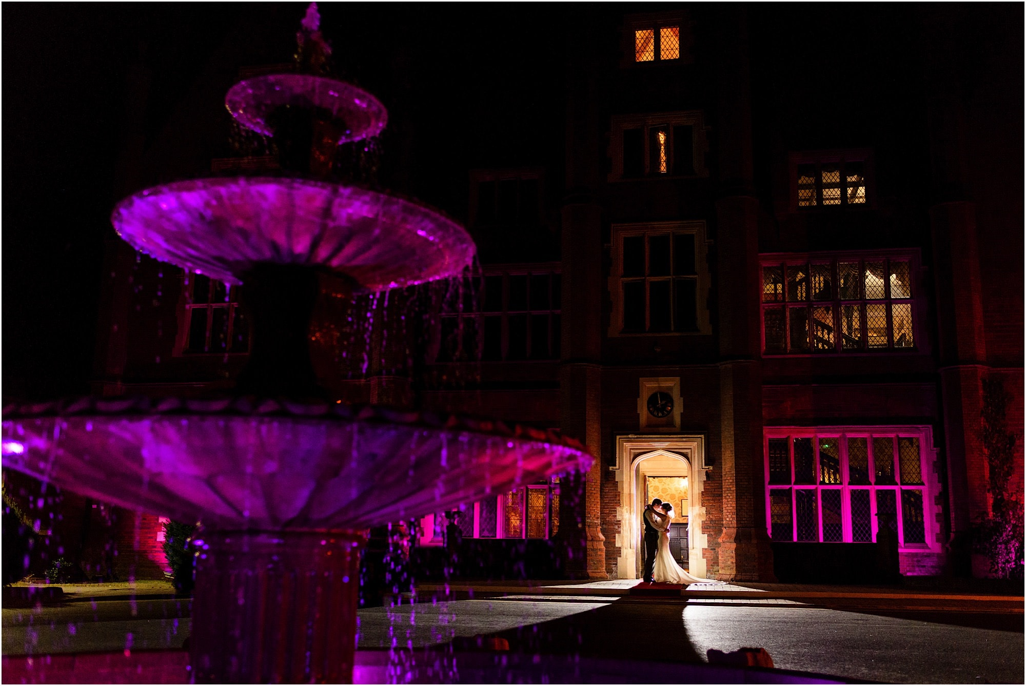 creative wedding photo at Dunston Hall, Norwich