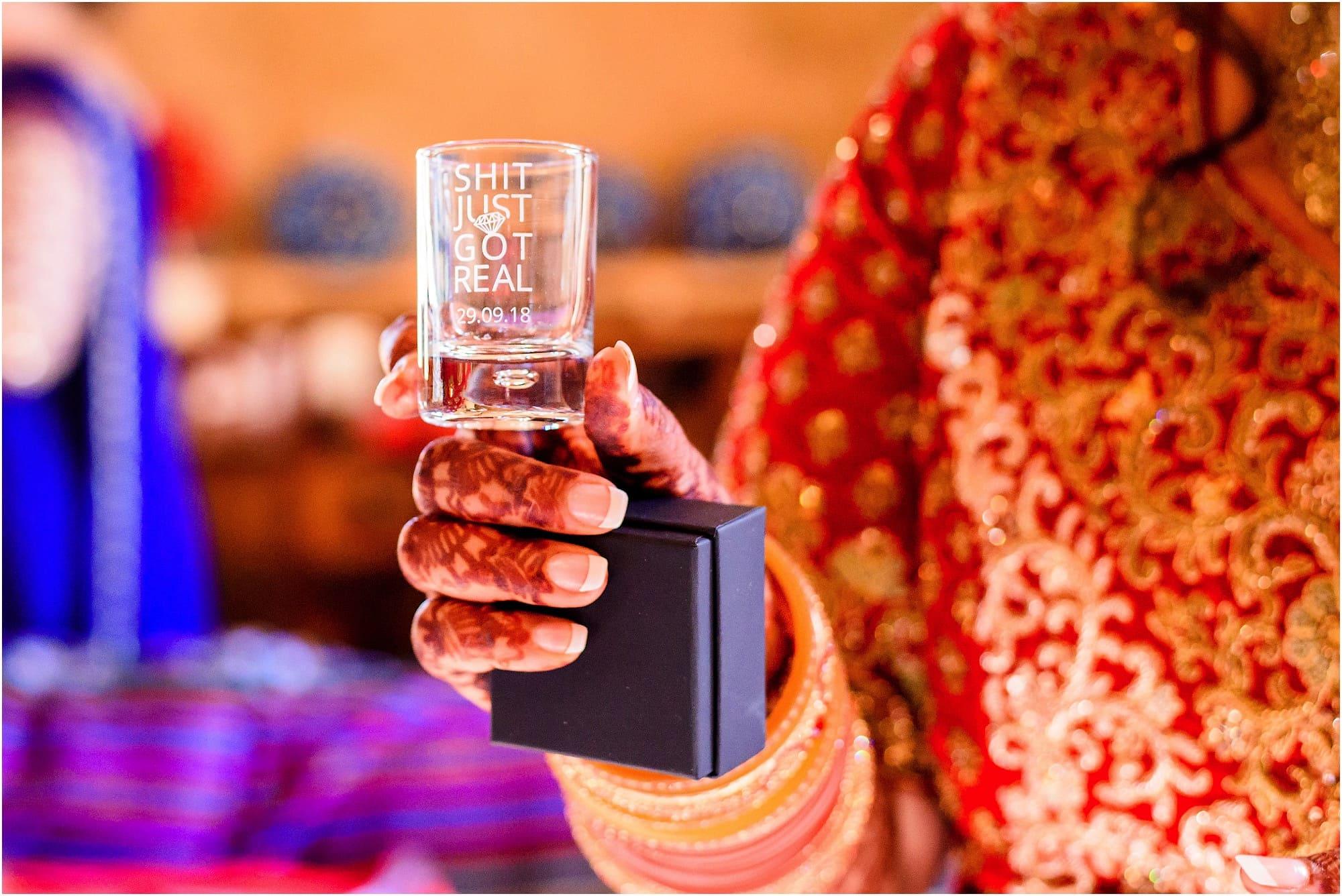 Shot glass present
