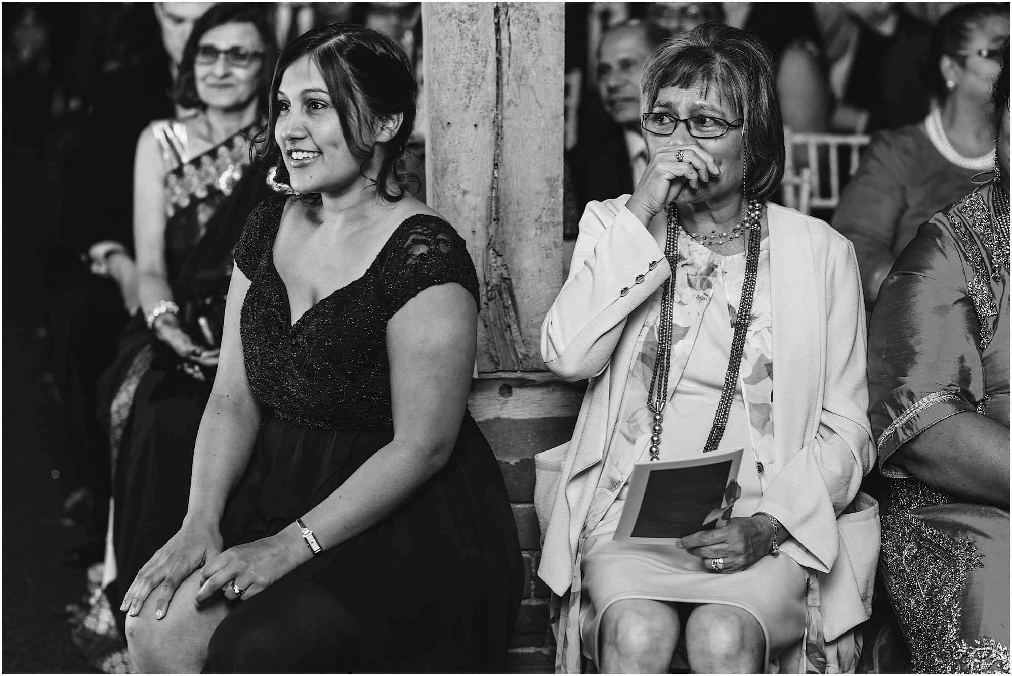 Mother of the bride in tears