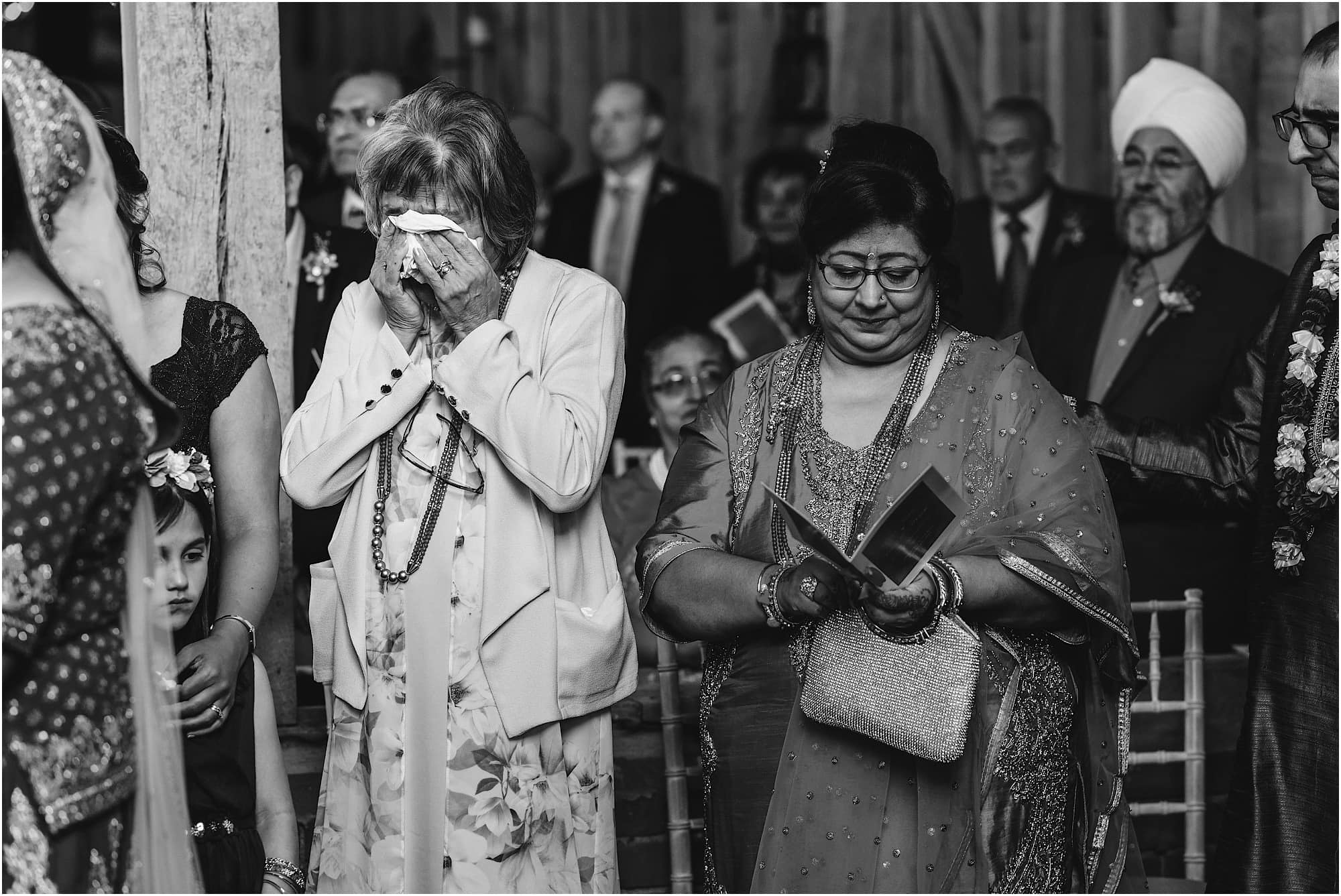 Mother of Bride in tears of happiness