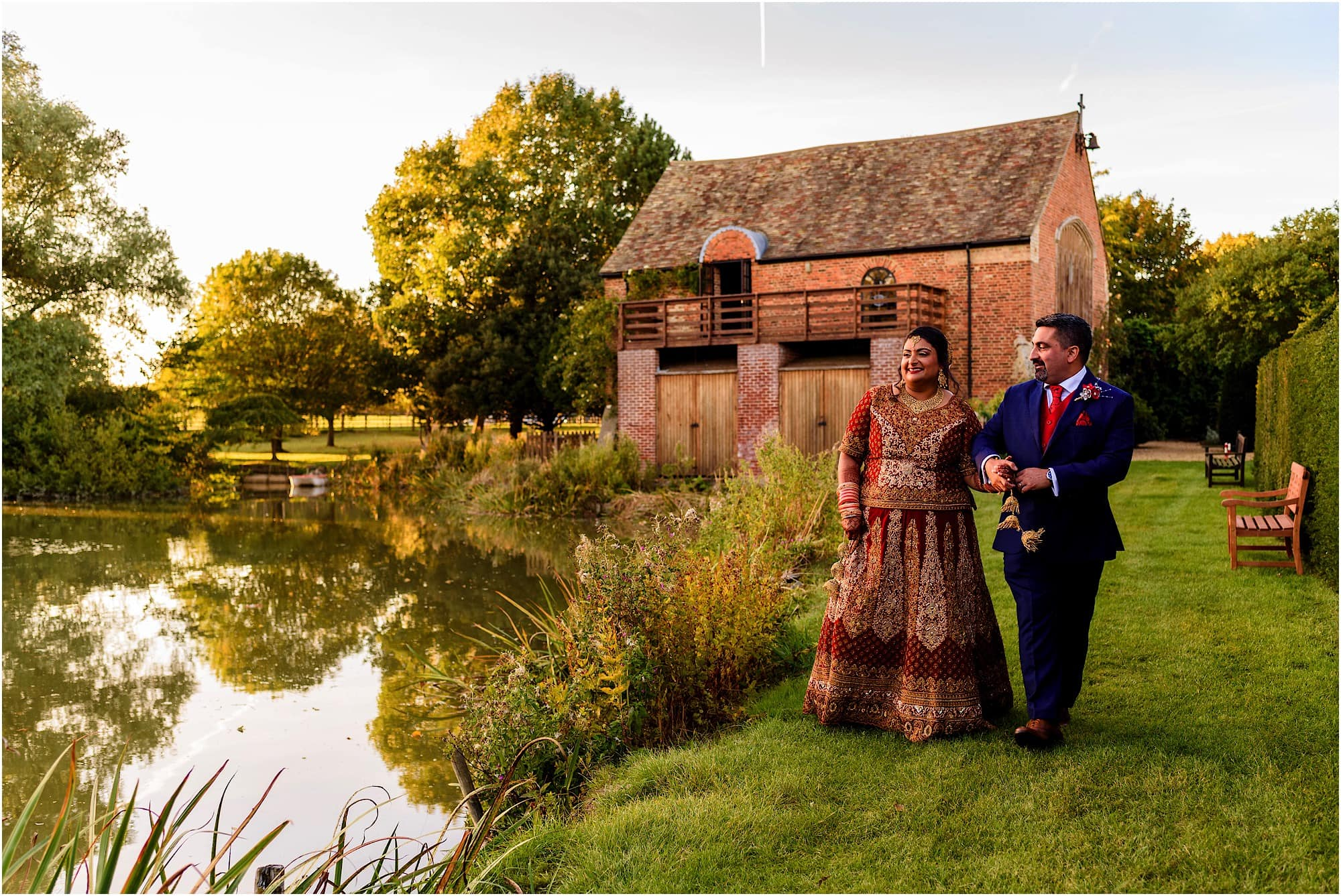Natural wedding photographer at Childerley Hall Long Barn