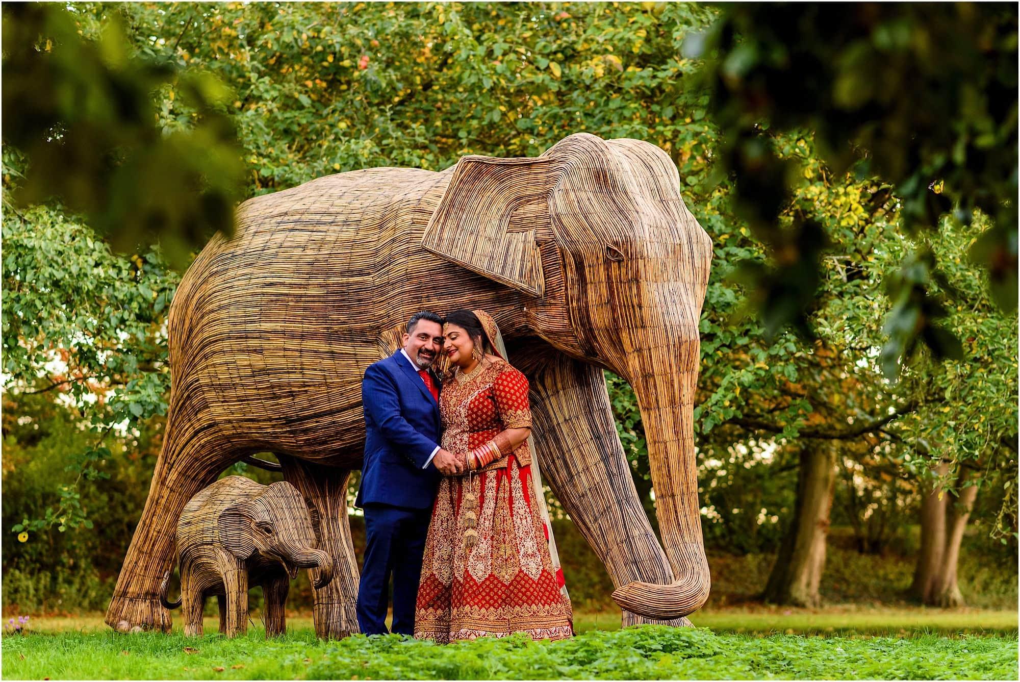 Epic elephants at Childerley Hall Wedding