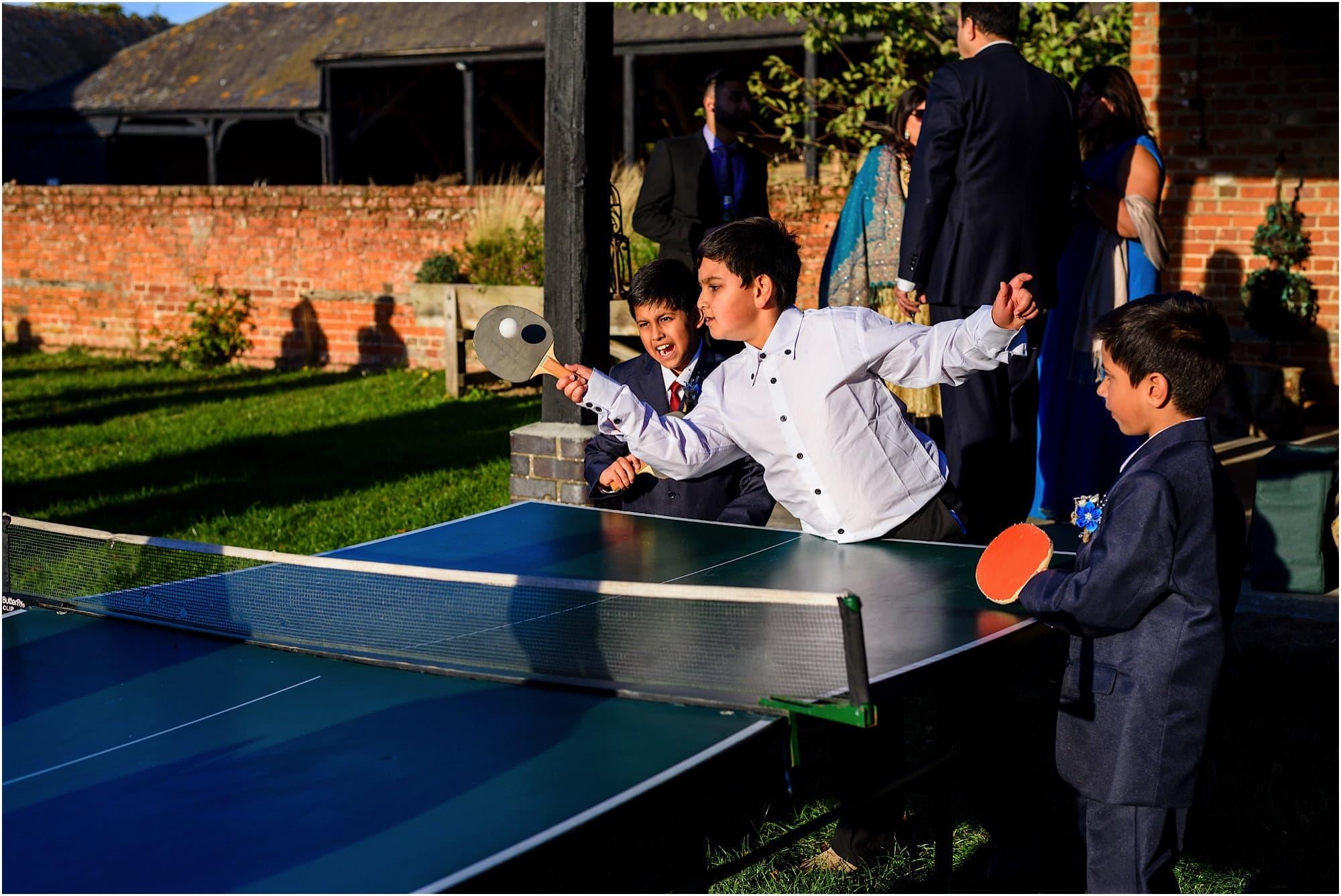 Kids enjoying table tennis