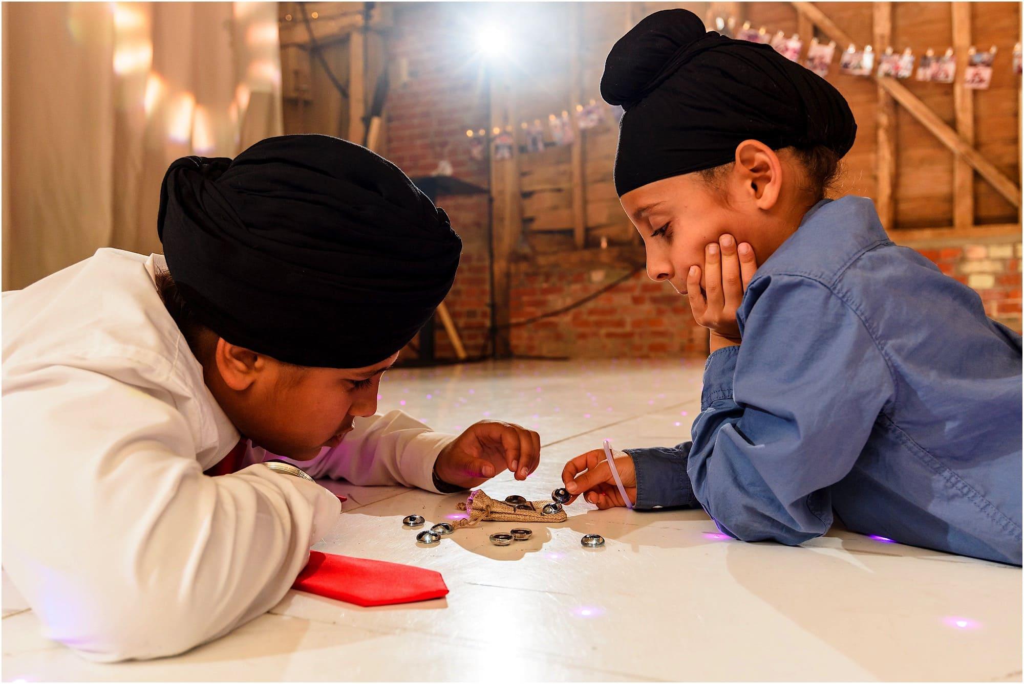 Sikh kids playing
