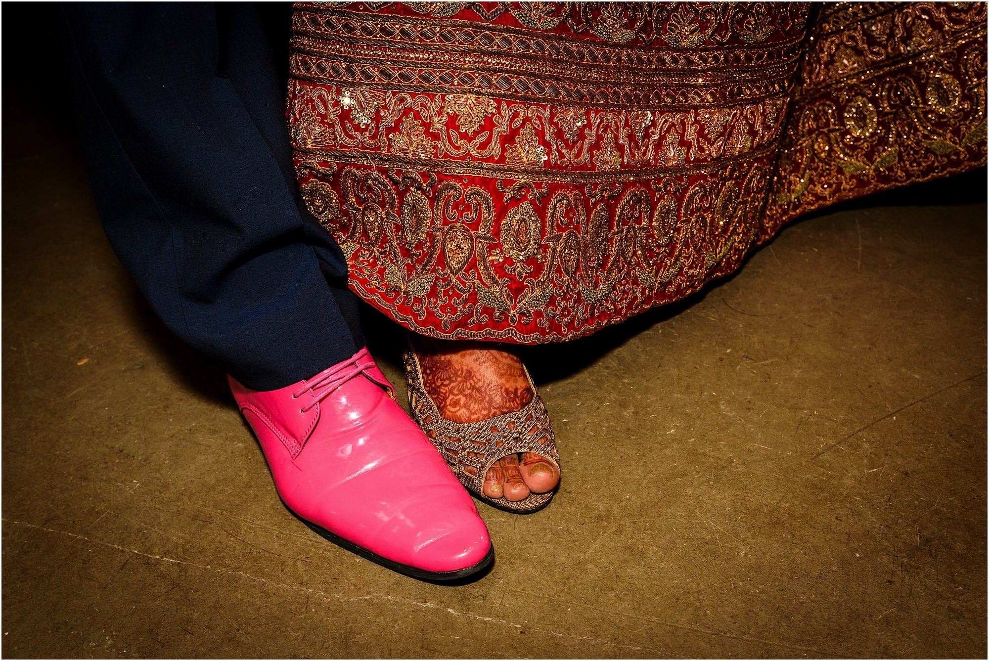 Hot pink shoes!