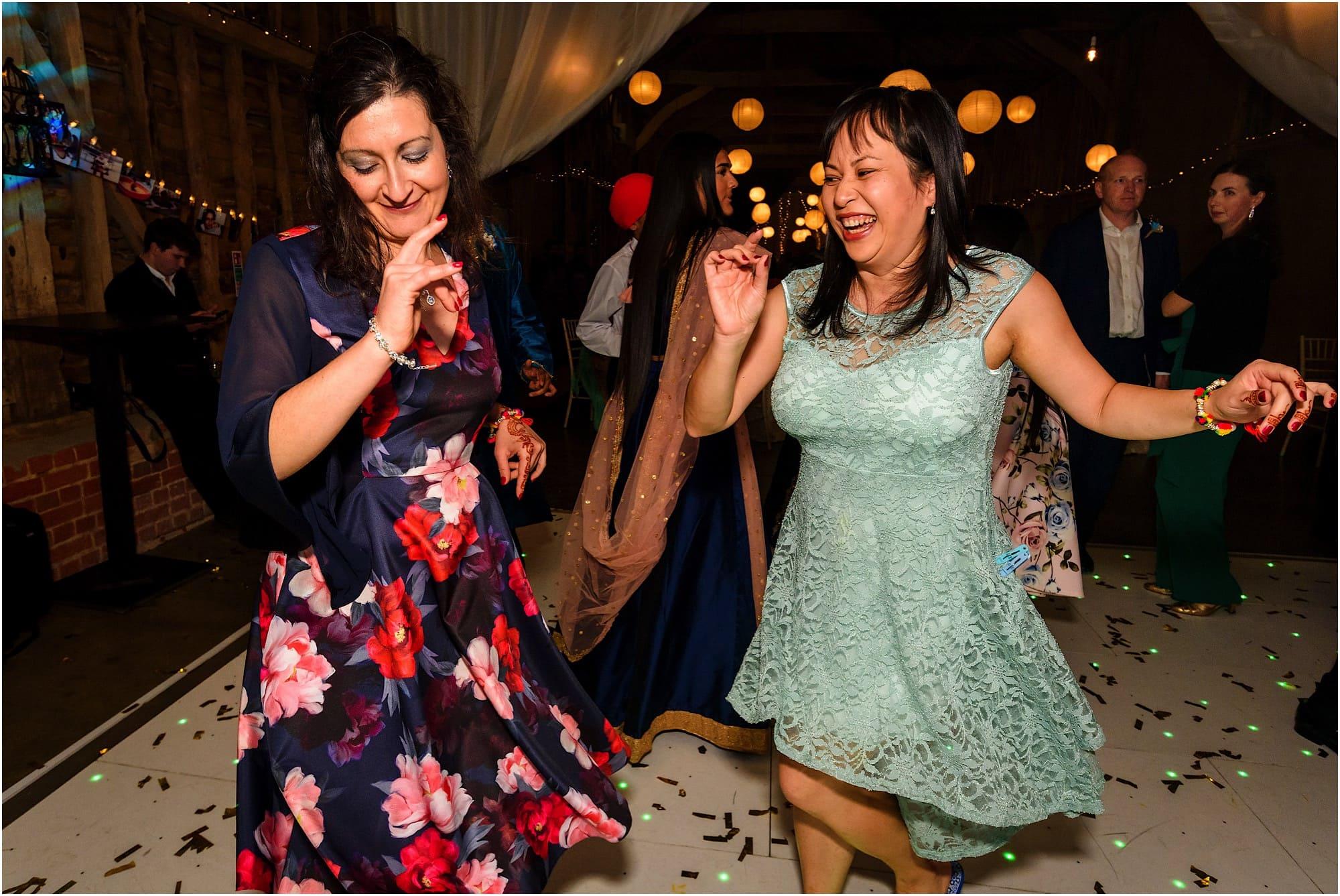 Dancing guests having fun