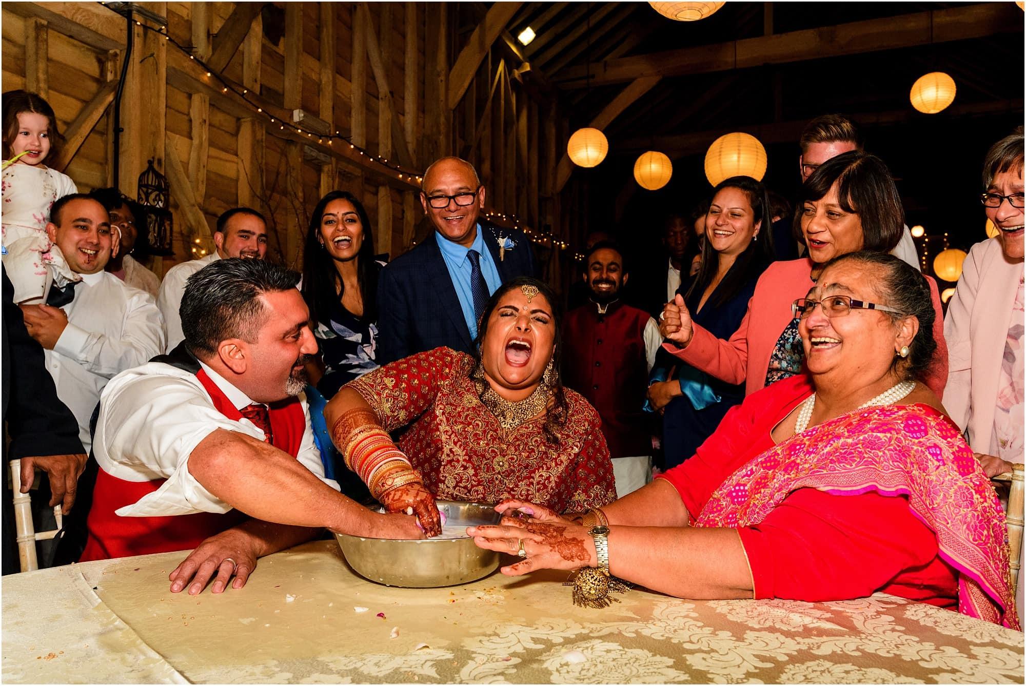 Bride laughing hard!