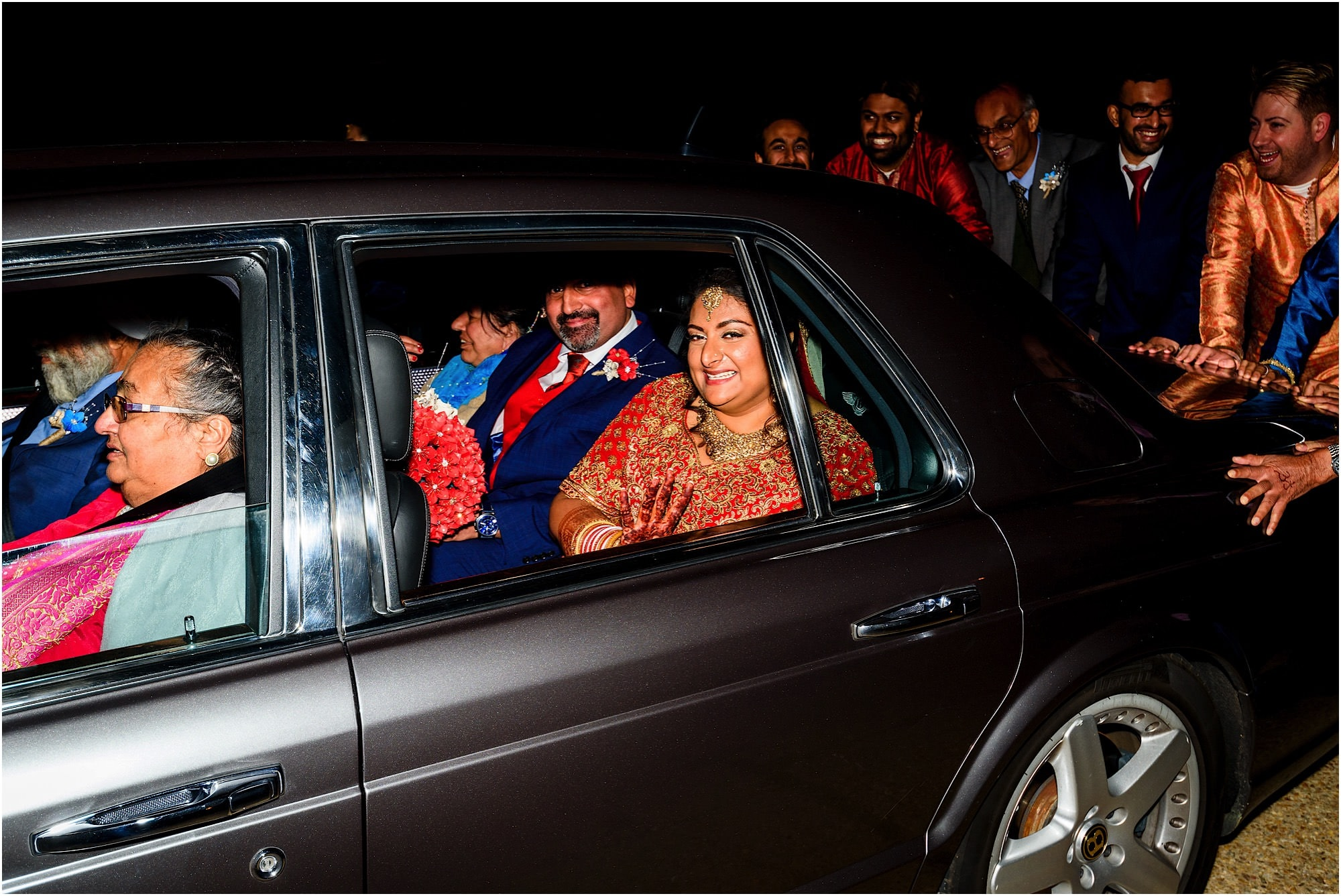 Bride and Groom leave Childerely