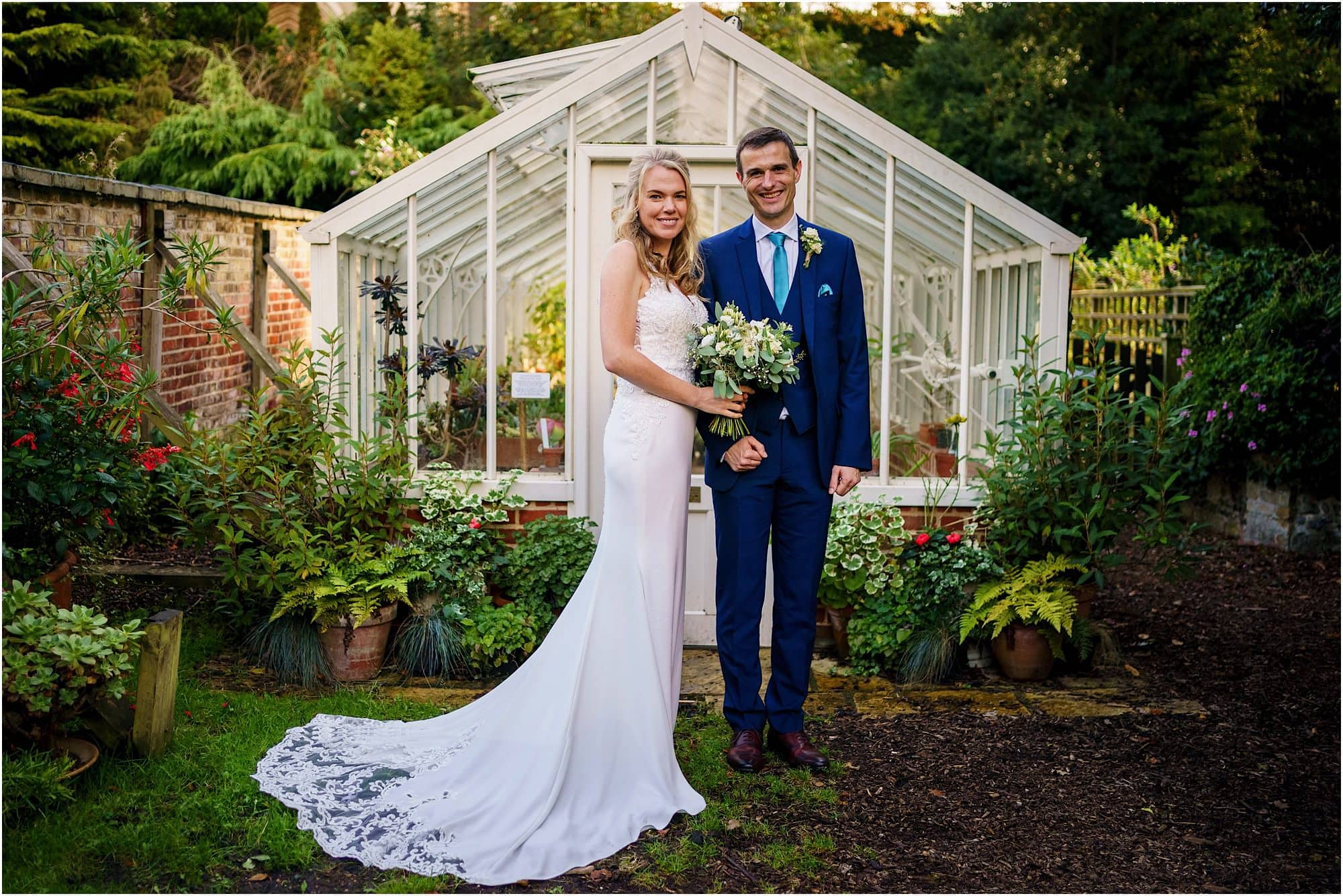 Wedding photo at the greenhouse